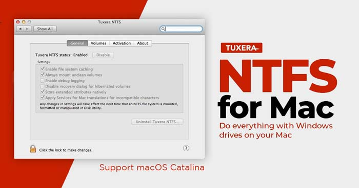 Microsoft NTFS by Tuxera full review support macOS Catalina