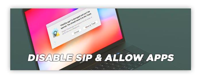 Cara memperbaiki app damaged cant be openen disable SIP