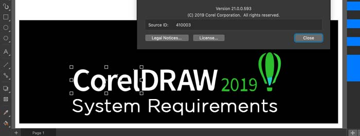 CorelDRAW 2019 MacOS System Requirements