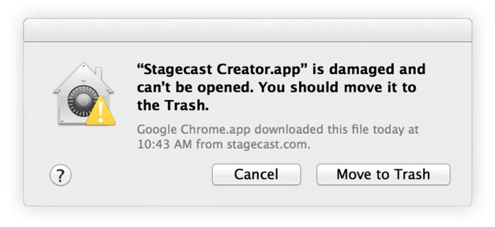 Mac App Damaged error move to trash
