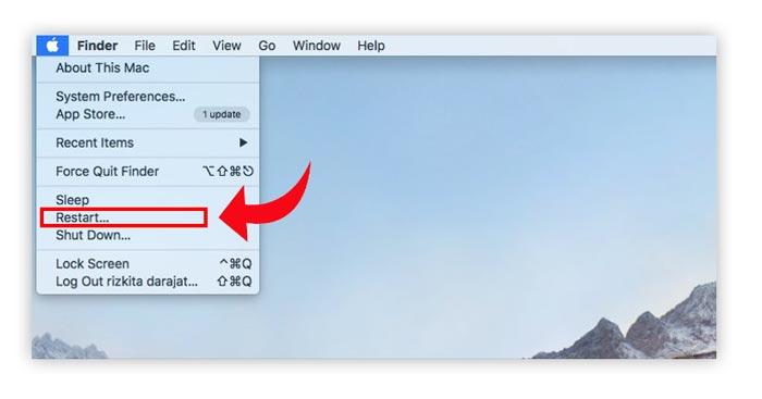 Restart Macbook mengatasi app damaged error