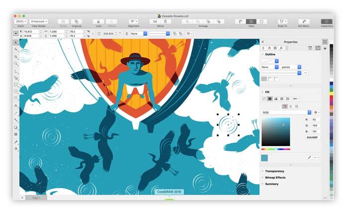 Software CorelDRAW 2019 macOS terbaru