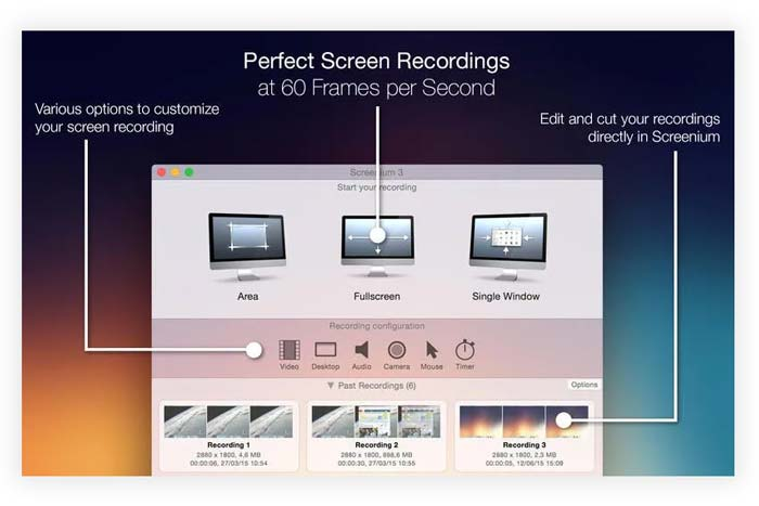 Software Screenium macOS terbaru